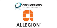 Open Options integrates with Allegion to offer access control solutions