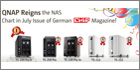 QNAP network video recorders feature in top position in German technology magazine's NAS chart