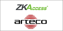 ZKAccess' ZKBioSecurity access control platform integrated with Arteco Video Event Management Software