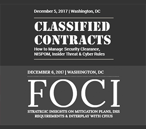 Classified Contract Summit & FOCI Forum 2017