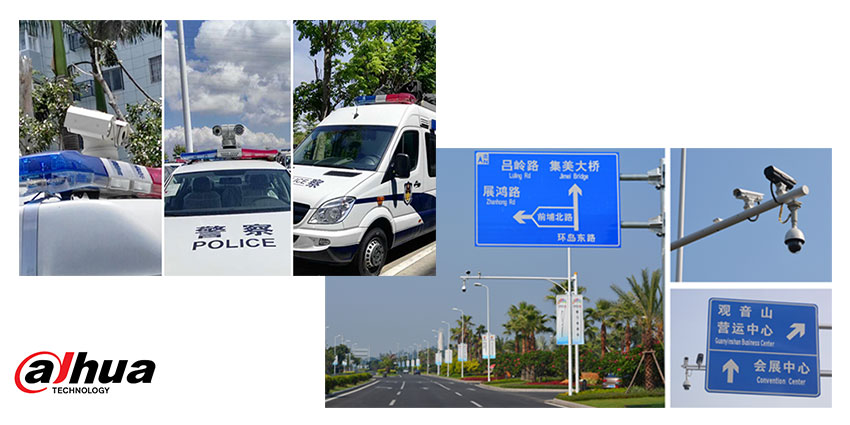 Dahua Mobile Solution with GPS positioning and in-vehicle wireless image transmission system was installed on 228 patrol cars and 72 special cars