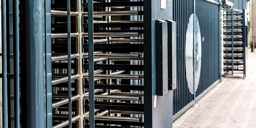 full height turnstiles are a tall, robust solution for perimeter fence lines, metro stations or parking garages