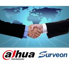 Dahua and Surveon logos