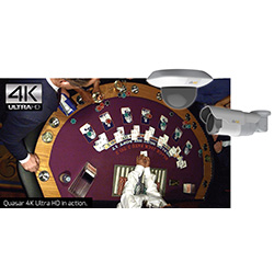 DVTEL offers full-frame-rate 4K cameras with wide focal range suitable to monitor gaming tables