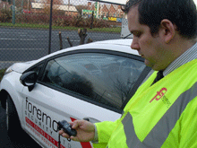 Des Oldham, Office Manager for Foremost Security Ltd using the Romad RSP-100