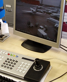 Staff on the ground at the airport are now supported by the Dedicated Micros system which helps to monitor aircraft location, parking spaces and the status of refuelling or restocking procedures