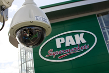 The Dedicated Micros CCTV system at PAK Supermarkets, when integrated with the APOS technology, allows security staff to keep an eye on any suspicious activity while also providing valuable management transaction data by integrating checkout activity with the CCTV images