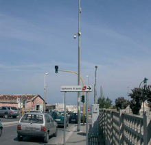 CPE and camera located on top of lampposts
