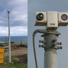 FLIR PTZ-35x140 MS daylight/lowlight camera was installed in the center of the perimeter