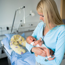 Newborns are equipped with a mini transmitter to prevent abductions