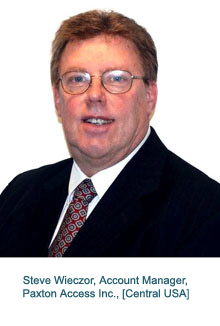 Steve Wieczor appointed as Account Manager for Paxton Access Inc. in Central USA
