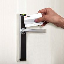 Allegion's CISA eSIGNO contactless lock range allows guests to unlock their doors by simply holding a card up to the reader