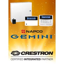 For Crestron integration, a single easy to use module is used to control any NAPCO Gemini Security system, from 8 to 255 zones, via TCP/IP