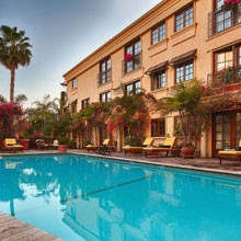 Over twenty Hikvision IP cameras were installed throughout Sunset Plaza hotel, each well suited for a specific function