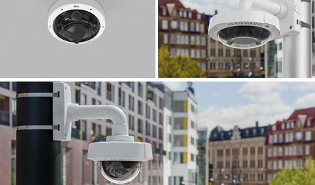 The P3707-PE and Q3708-PVE cameras are designed for large scale video surveillance in airport terminals, railway and metro stations as well as city surveillance installations