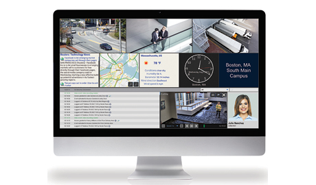 Magic Monitor can project digital signage, images, RSS feeds, television and promotional videos to any Magic Monitor on the network
