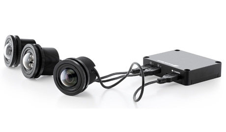 The MegaVideo Flex IP camera is composed of the camera sensor, main camera unit, metal mounting bracket, and the USB cable