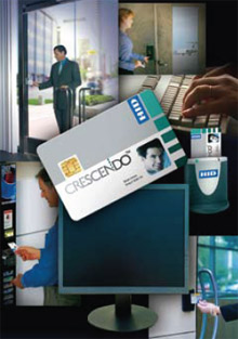 Crescendo is a multi-technology smart card designed to act as an employee identification badge while providing out-of-the-box, standards-compliant support for thousands of logical access applications and physical access control systems