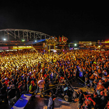 With over 50,000 daily visitors, the Full Throttle Saloon is the epicenter of the Sturgis Motorcycle Rally