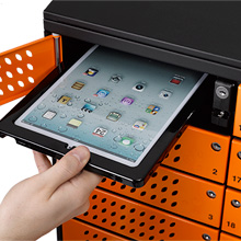 When demonstrating the Traka iPad Locker, visitors were able to see how the system enables safe storage but flexible use