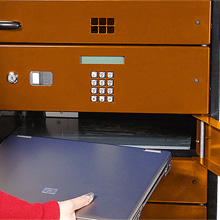 The practical features of the system offers a simple solution of not only protecting the devices but it also enables easy set-up before students arrive