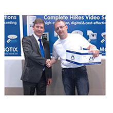 Gary McLoughlin won MOBOTIX D15 Pano dual lens camera during IFSEC annual event