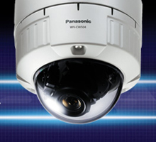 Panasonic's unique SD technology in new WV-NW502 H.264 Vandal Resistant Network Dome Camera