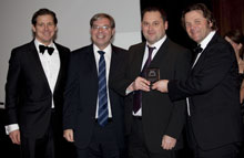 Paul Raybould and Jon Lee of Index Security Systems Ltd. with Magnus Ekerot and Lutz Coelen