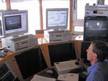Control room monitors traffic day & night