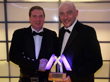 The award was presented to Martin Morris, Security Sales Manager at Mayflex, during the Mobotix gala dinner awards ceremony, held in Kaiserslutern, Germany, during September