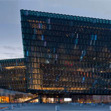 Harpa concert hall features ASSA electric strikes, panic bars and exit devices, as well as door handles from ASSA's sister company, Ruko