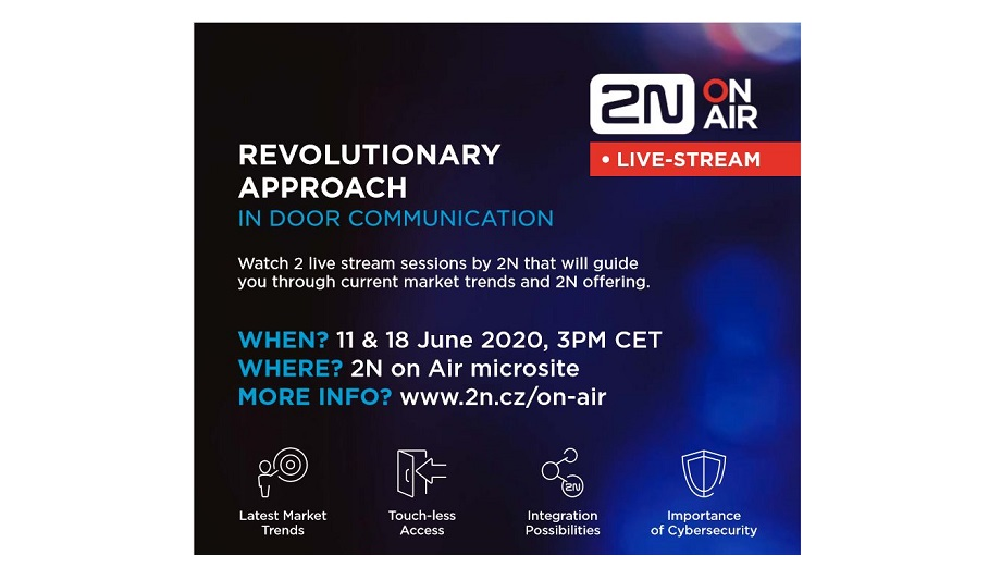 2N Announces Webinar On Touchless Technology Internet-Enabled Intercoms And Access Control Systems