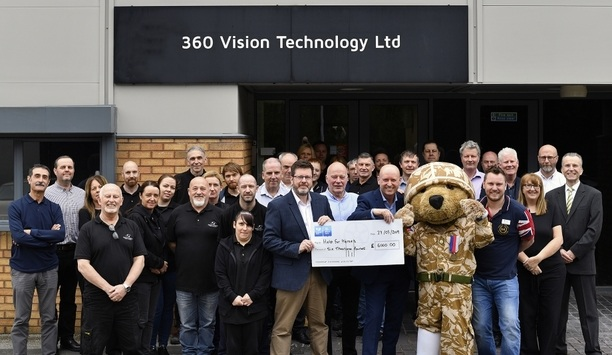 360 Vision Technology donates £6,000 to the Help for Heroes charity