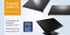AG Neovo displays its new DF-55 dual-sided and QF-28 4K UHD display at Security Essen 2014