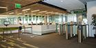 Boon Edam Swinglane 900 optical turnstiles prevent tailgating at Utah Valley University