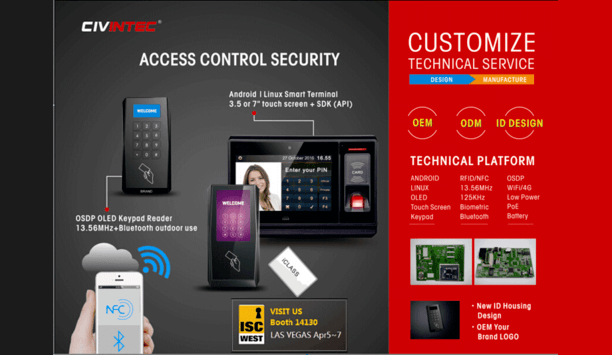 CIVINTEC releases new generation smart wall readers and smart terminals at ISC WEST 2017