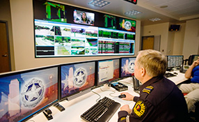 Video Walls Provide the Big Picture for Collaborative Security