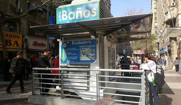 Boon Edam's Trilock 60 tripod turnstiles deployed at Eco Baños, Santiago de Chile