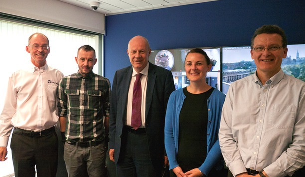 UK First Security of State Damian Green visits IndigoVision Technology UK HQ