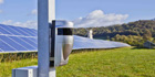 Optex REDSCAN laser detectors secure solar panel farm accredited by the UK's electricity supplier