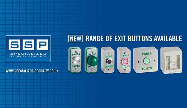 Specialized Security Products offers new range of exit buttons
