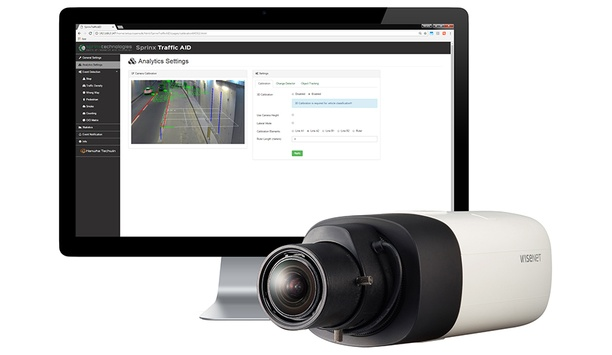Hanwha Techwin Wisenet X camera integrates with automatic incident detection solution from Sprinx Technologies