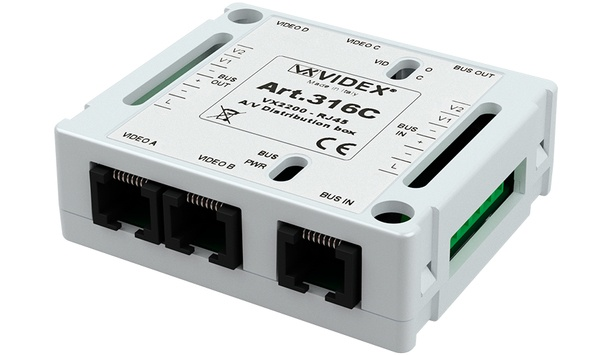 Videx introduces 316C distribution box for digital VX2200 door entry video systems