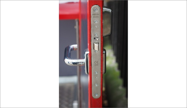 Abloy UK EL490 electric motor lock secures up to 1,000 Pod Works phone box workstations