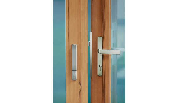 Allegion UK adds Brio 286DL locking handle to its range of accessories enhancing dual point lock on folding door hardware