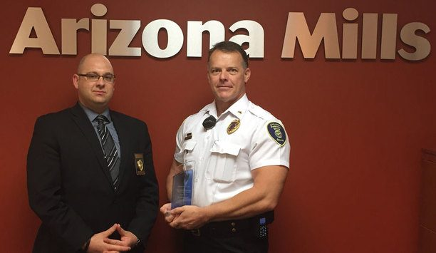 Allied Universal mall security professional Kevin Soulages awarded the Simon Properties Tom Cernock Award for outstanding performance