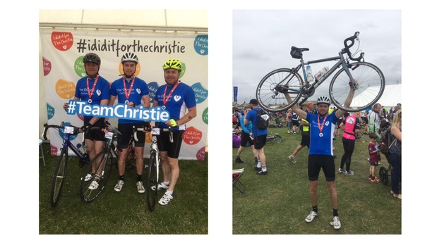 GJD completes Manchester to Blackpool 60-mile bike ride for The Christie Charity