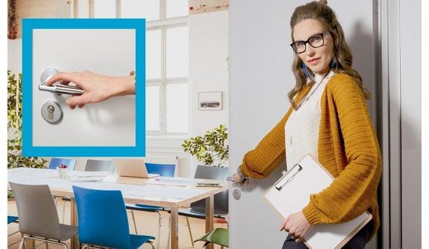 ASSA ABLOY's Code Handle digital PIN locking device ensures authorised access to school staff rooms and equipment stores