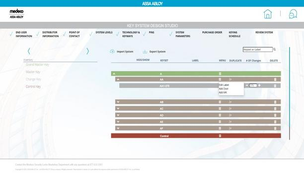 ASSA ABLOY Announced Improved Master Key System Creation With Key System Design Studio