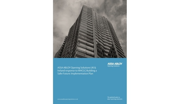 ASSA ABLOY issues a new whitepaper in response to MHCLG's Building a Safer Future